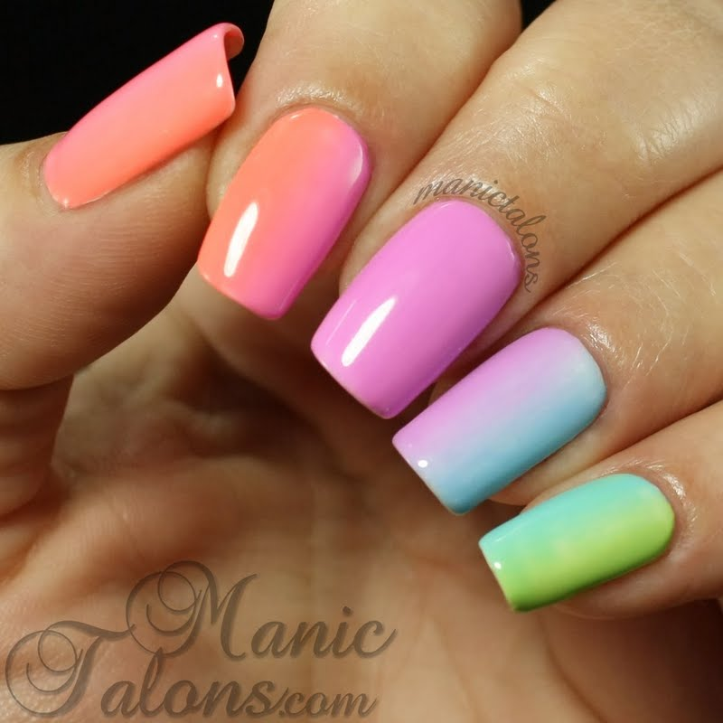 how to do gradient nails with gel polish photo - 1