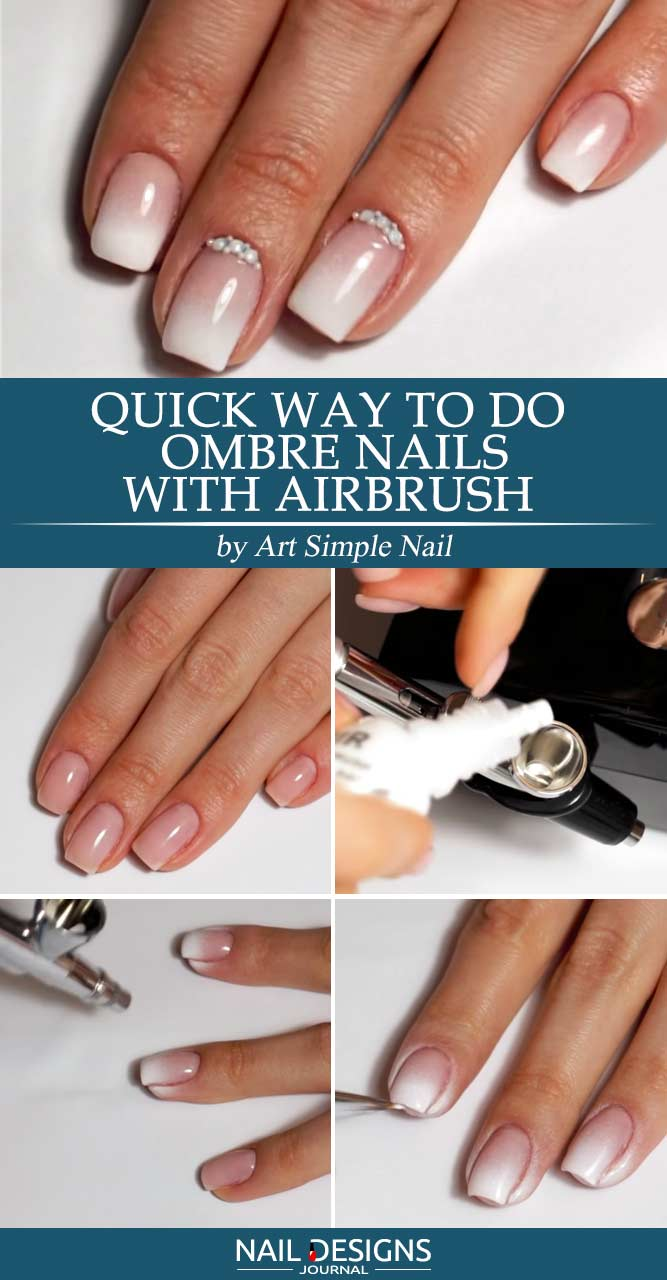 how to do ombre nails with gel photo - 2