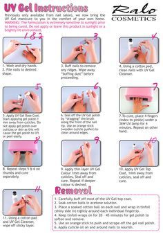 how to do uv gel nails at home step by step photo - 2