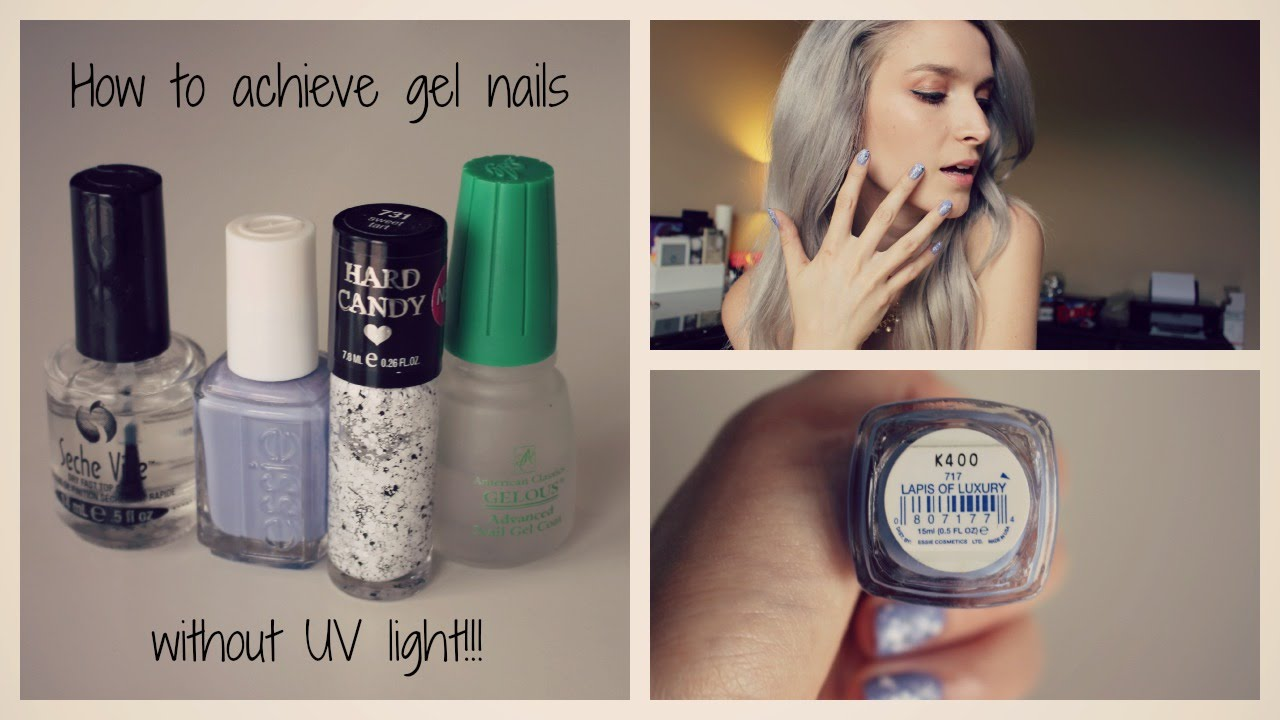 how to dry gel nails without a uv light photo - 1