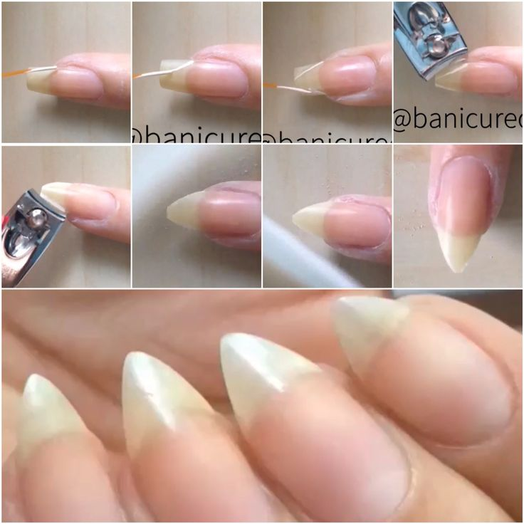 how to file coffin nails step by step photo - 2