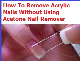 how to get acrylic nails off without acetone photo - 1