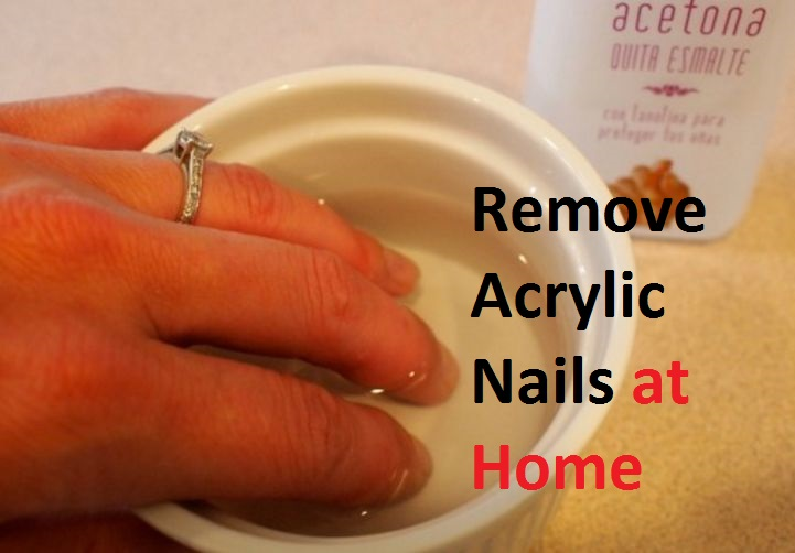 How to remove acrylic nails with hot water - Expression Nails
