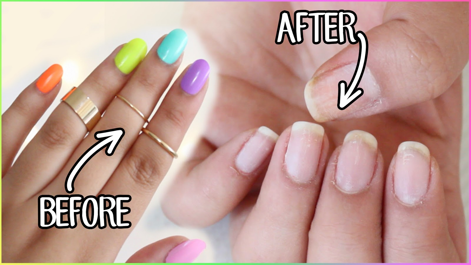 How to remove fake gel nails - Expression Nails