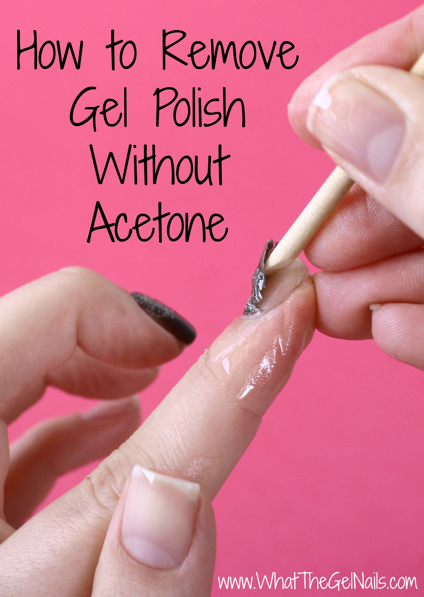 how to remove gel nail polish without damaging acrylic nails photo - 2