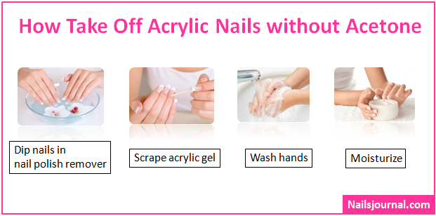 how to take off acrylic nails with gel polish photo - 1