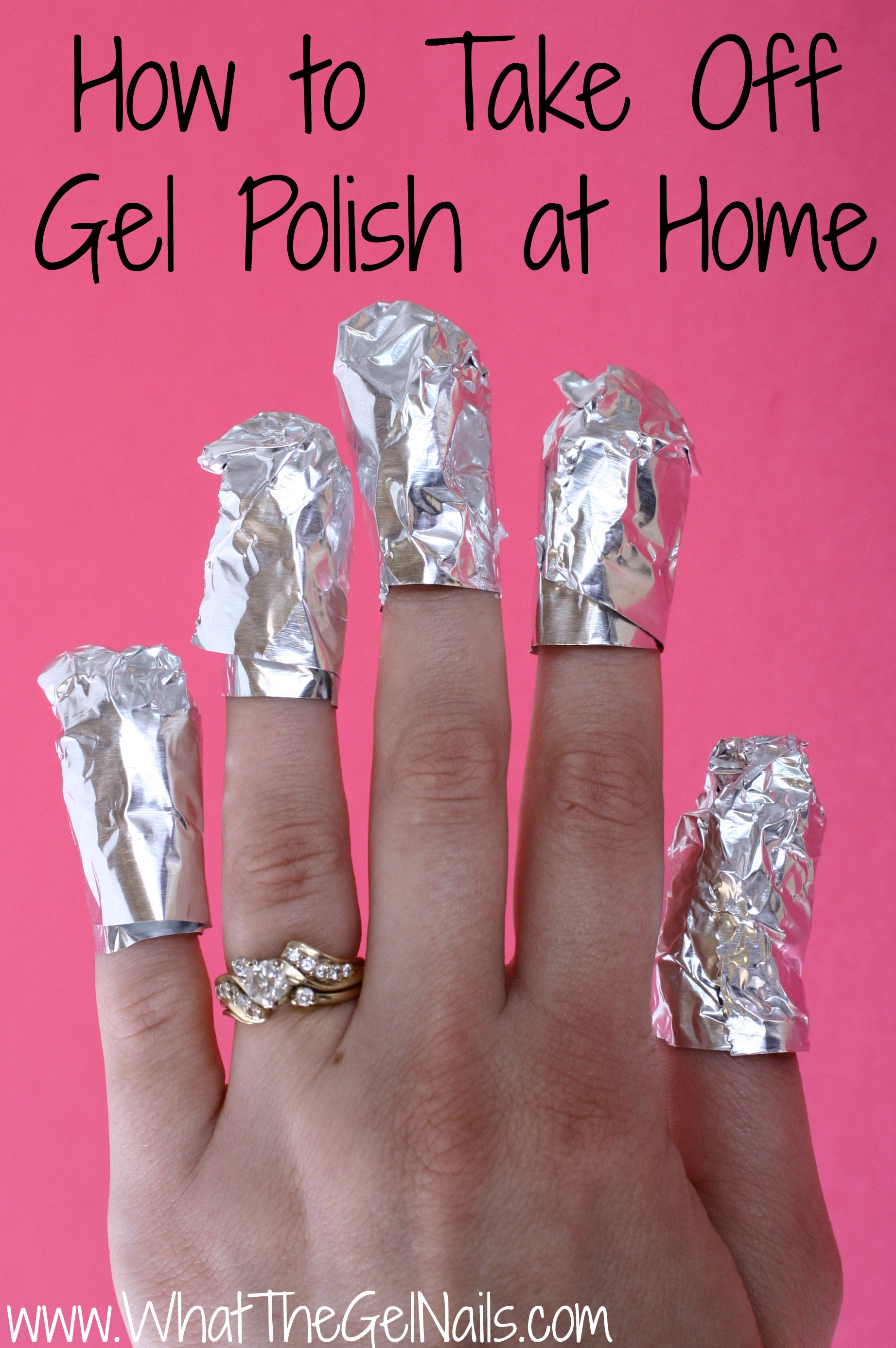 how to take off at home gel nails photo - 2