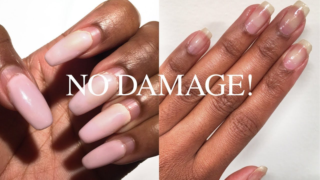 how to thin acrylic gel nails without damaging photo - 1