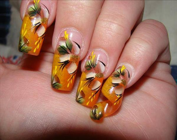 how to use glue with acrylic nails photo - 2