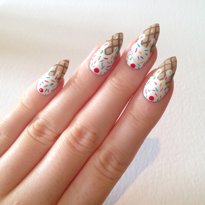 ice cream stiletto nails photo - 1