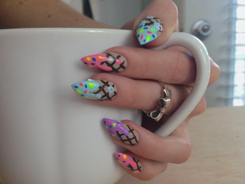 ice cream stiletto nails photo - 2
