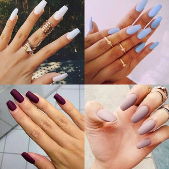 kylie jenner coffin nails photo - 1