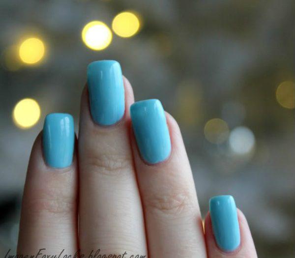 Light Blue Acrylic Nails Photo