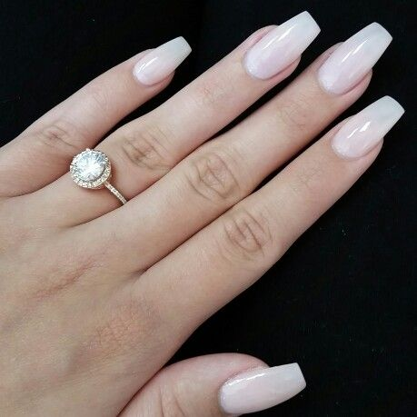 light pink coffin acrylic nails photo - 1