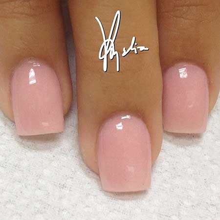 Gel overlay on short nails - New Expression Nails