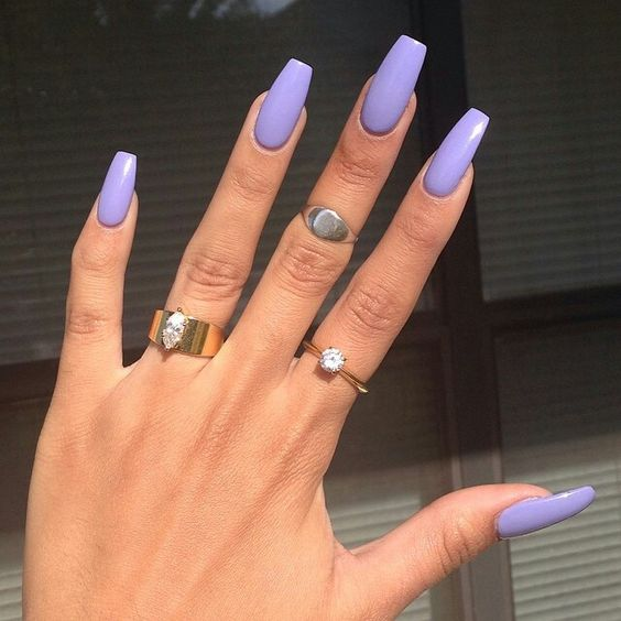 light purple acrylic nails tumblr photo - 1