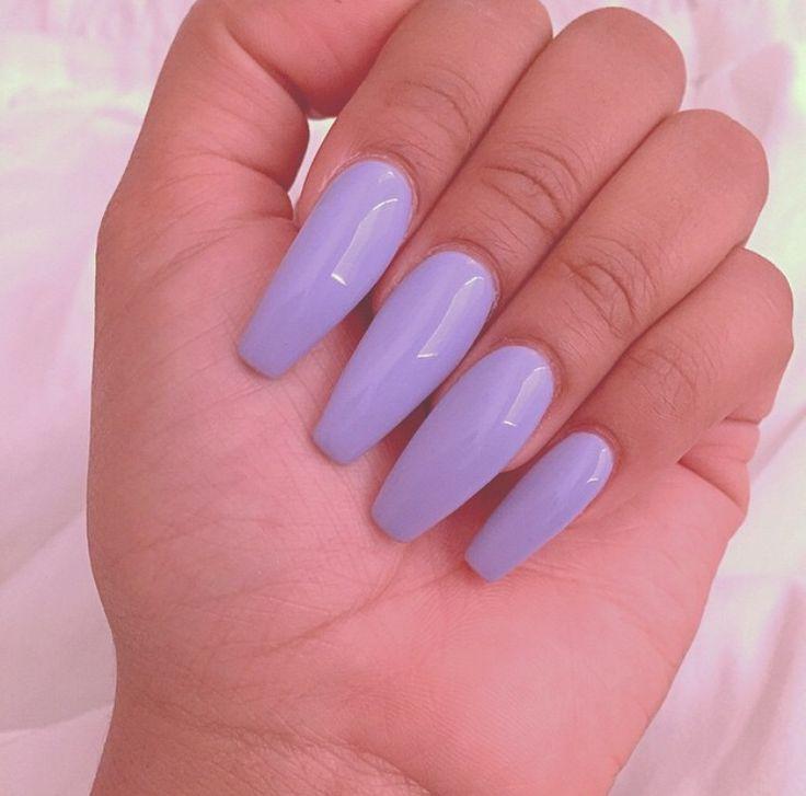 light purple acrylic nails tumblr photo - 2