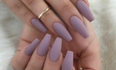 Light purple coffin nails - Expression Nails