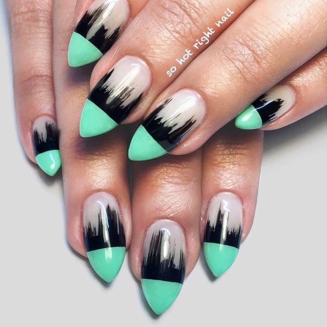 lime green stiletto nails photo - 2