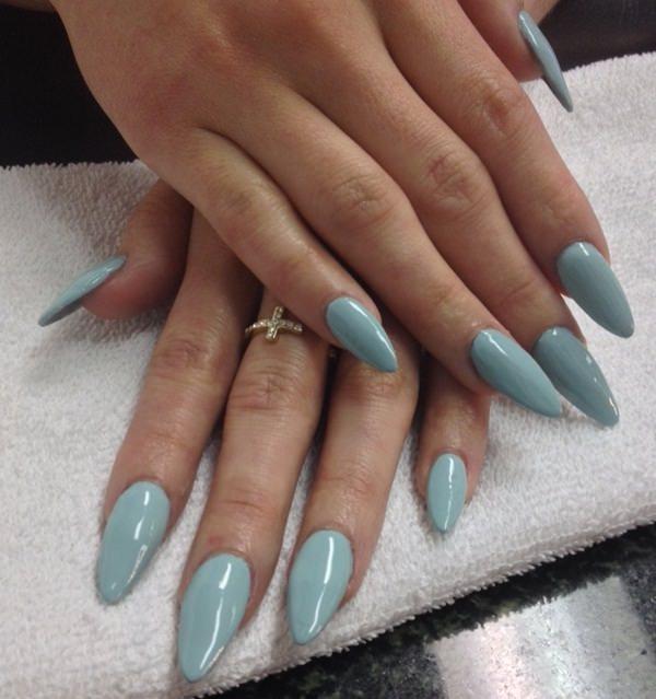 long almond shaped acrylic nails photo - 1