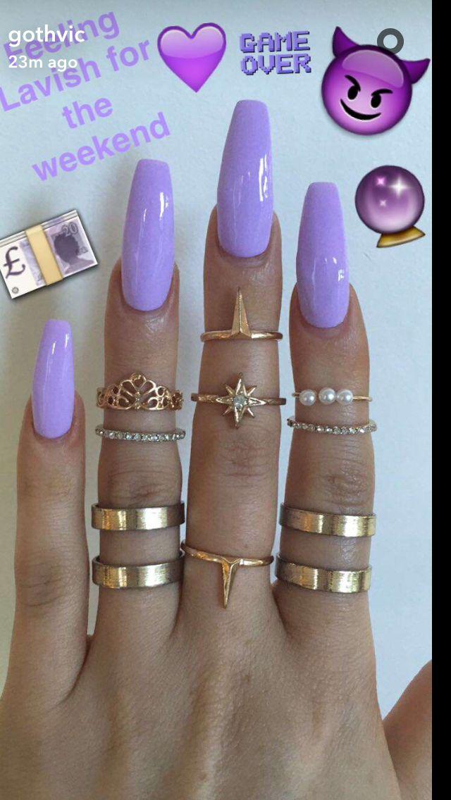 long coffin acrylic nails ideas photo - 2