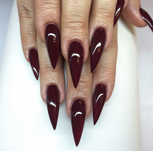 long cute stiletto nails photo - 1