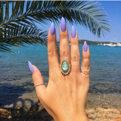 long cute stiletto nails photo - 2