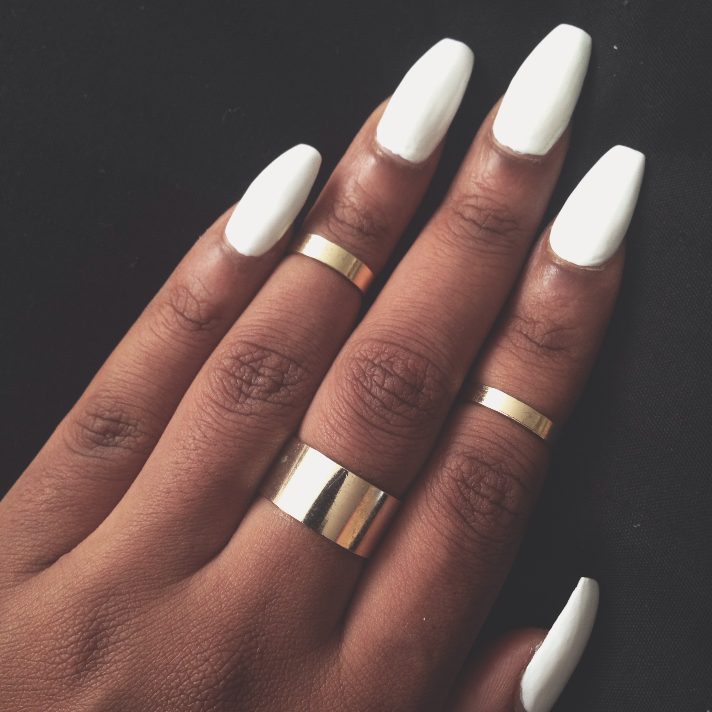 Long rounded acrylic nails - Expression Nails