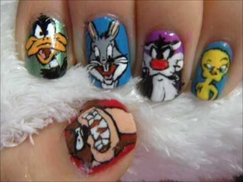 looney tunes acrylic nails photo - 1