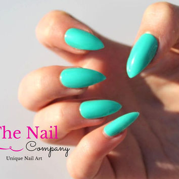 make press on stiletto nails french photo - 2