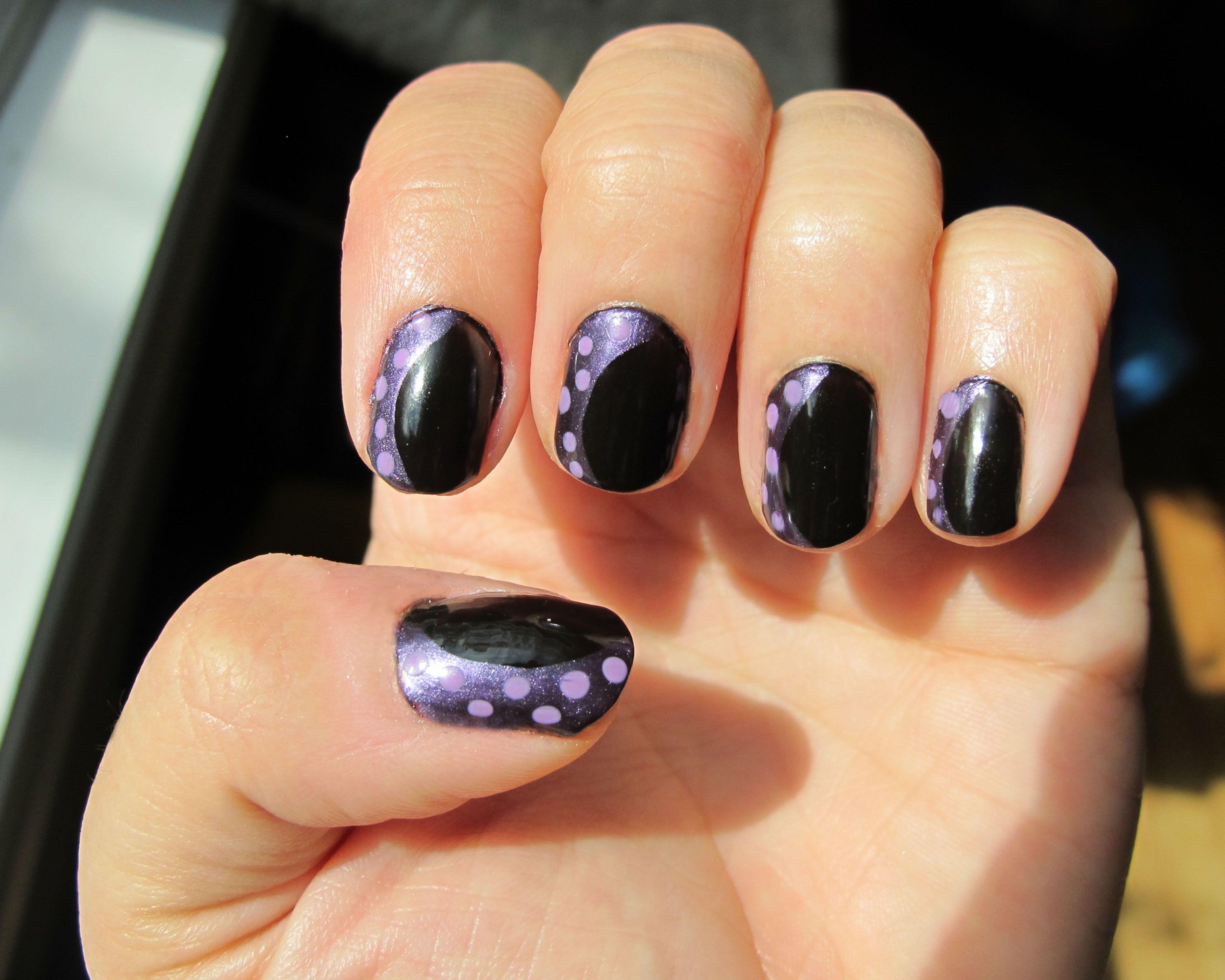 maleficent and ursula acrylic nails photo - 1