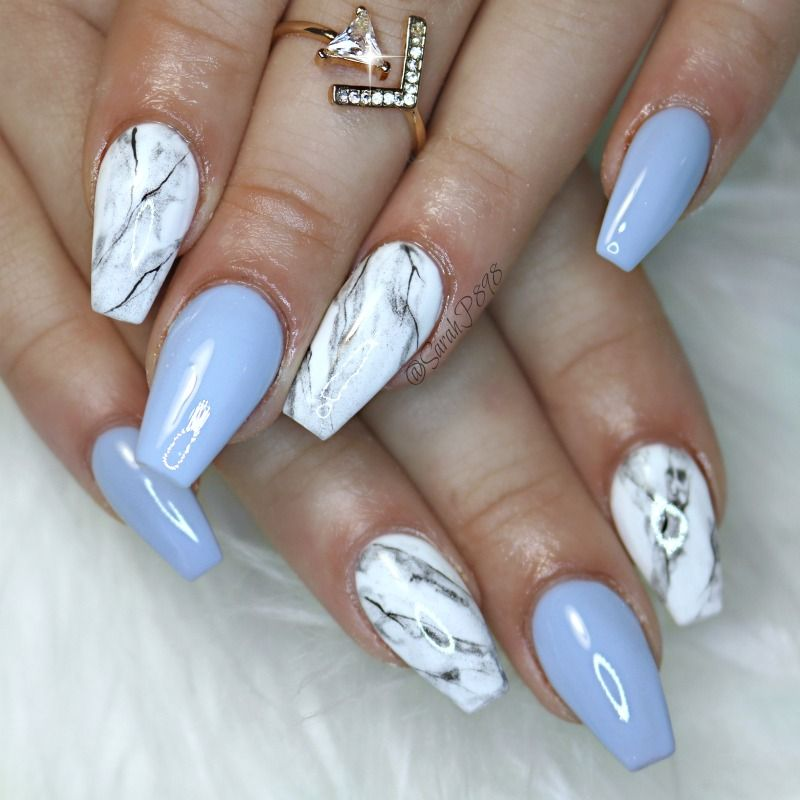 marble gel nails photo - 2