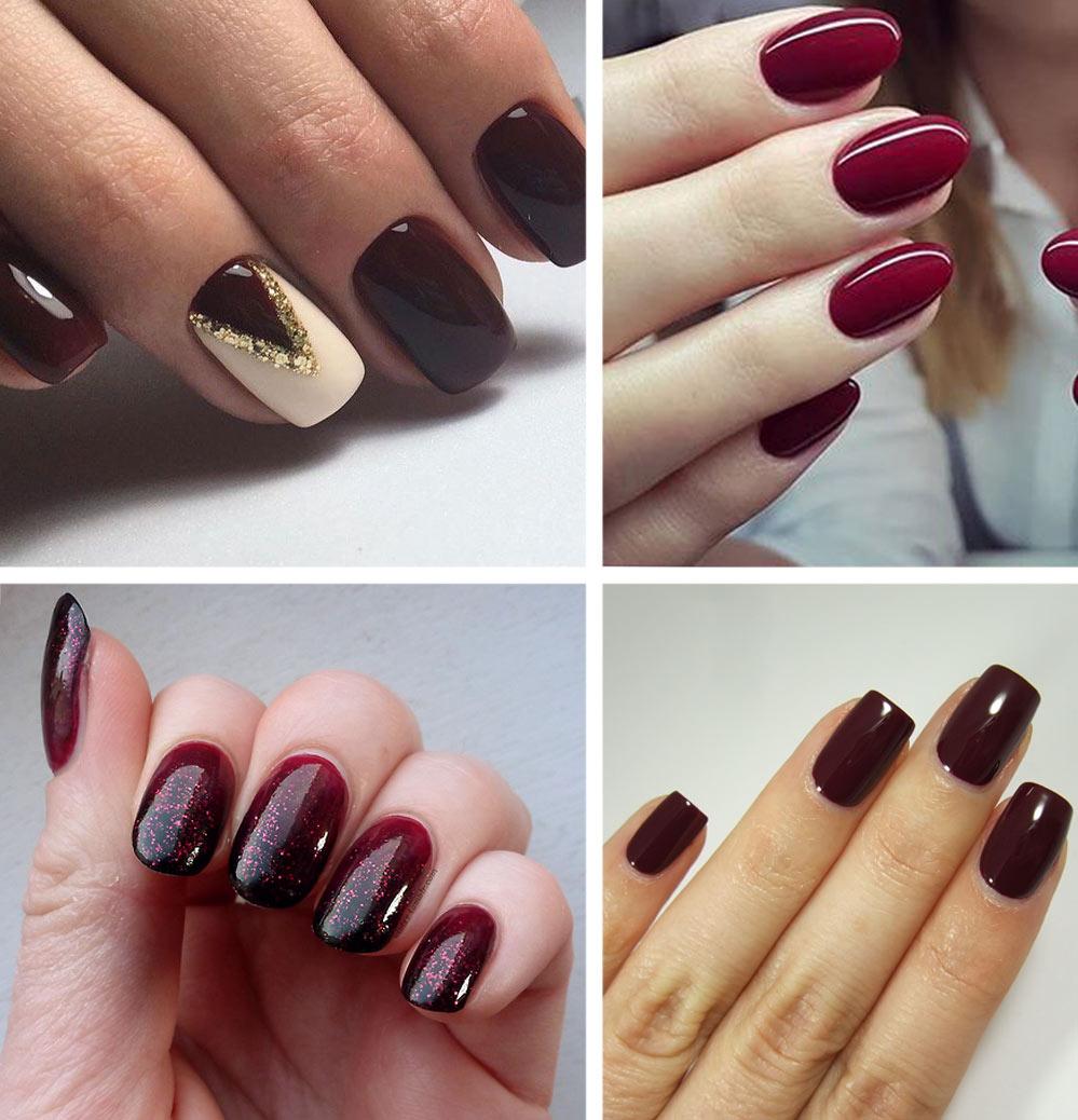 Maroon gel nails - Expression Nails