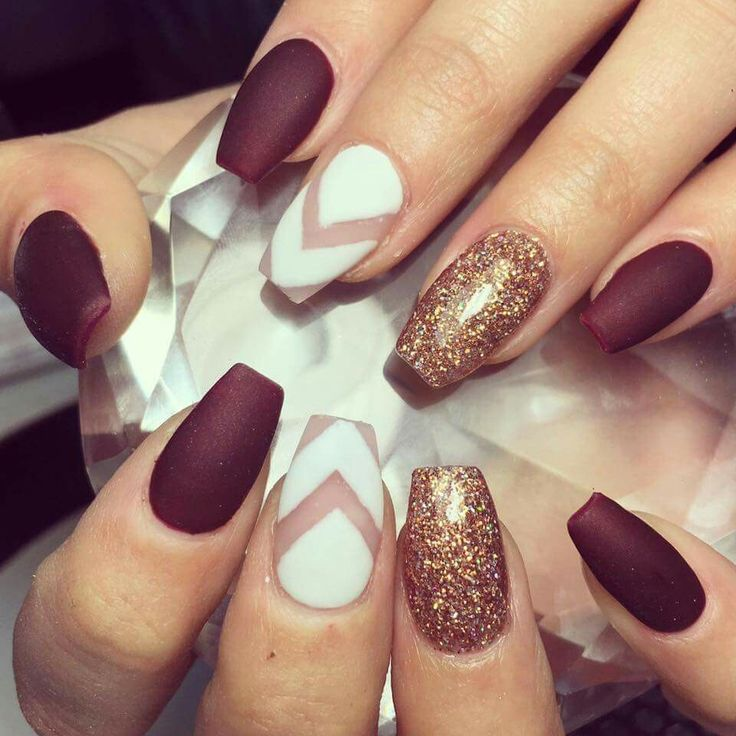 Maroon gel nails - Expression Nails