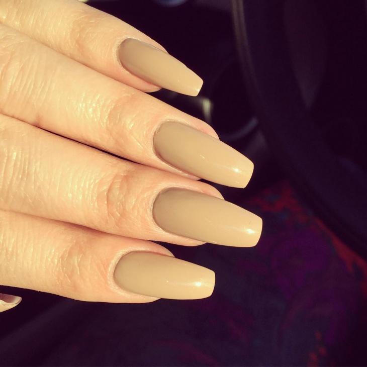 matte acrylic nails coffin photo - 1