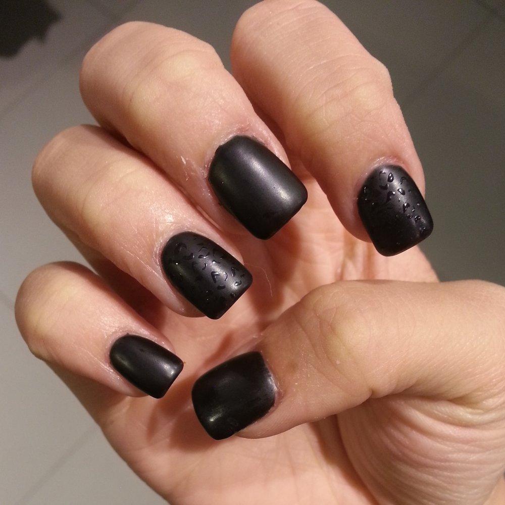 matte black gel nails photo - 2