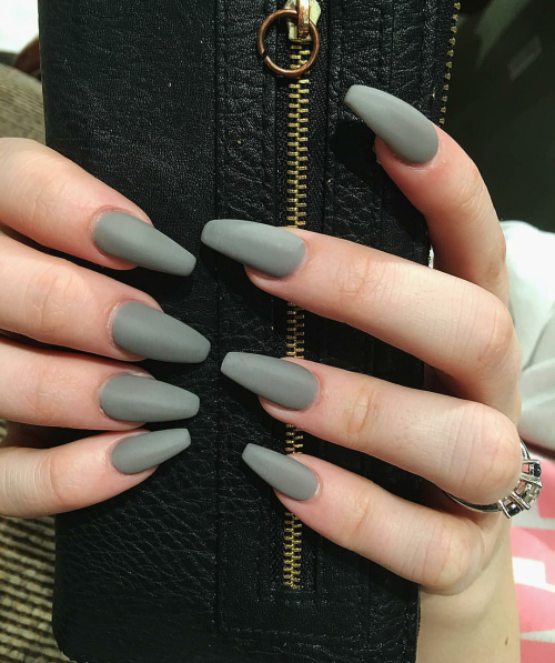 matte coffin nails tumblr photo - 2