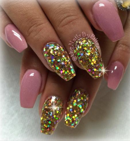 mauve acrylic nails photo - 1