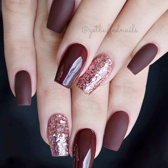 mauve acrylic nails photo - 2