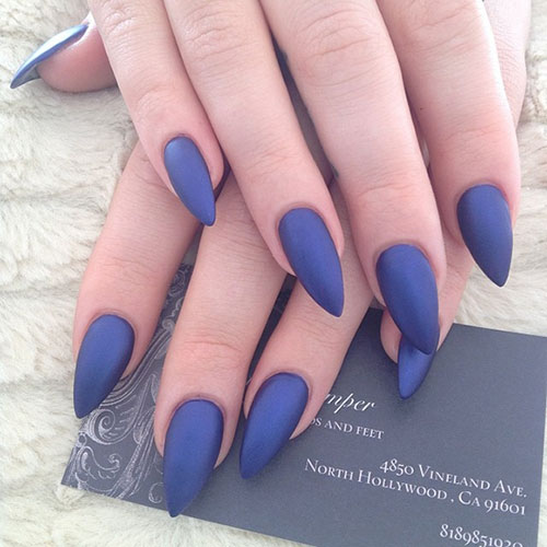 medium short length stiletto nails photo - 1