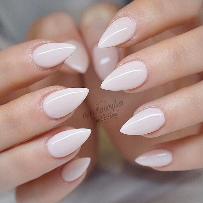 medium short length stiletto nails photo - 2