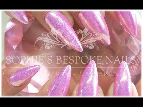 Mermaid acrylic nails - Expression Nails