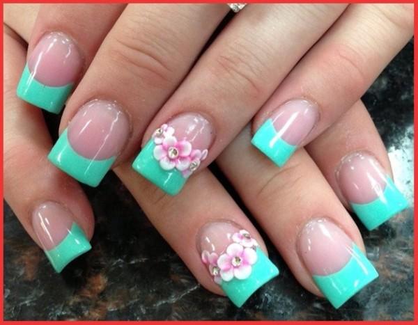 Mint green acrylic nails - Expression Nails