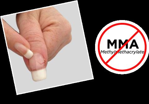 mma acrylic nails photo - 2