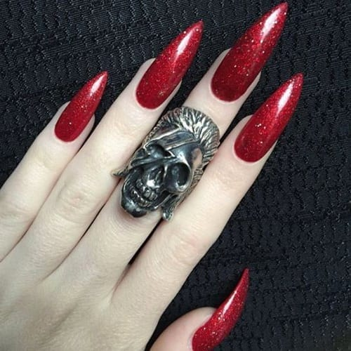 nail designs on stiletto nails photo - 2