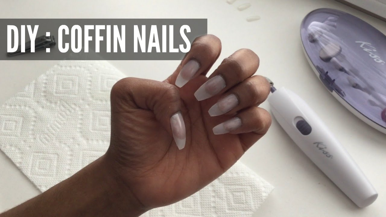 nails coffin and how to make your own photo - 1