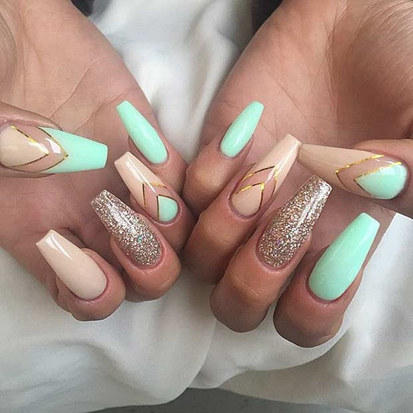 nails ideas coffin photo - 1