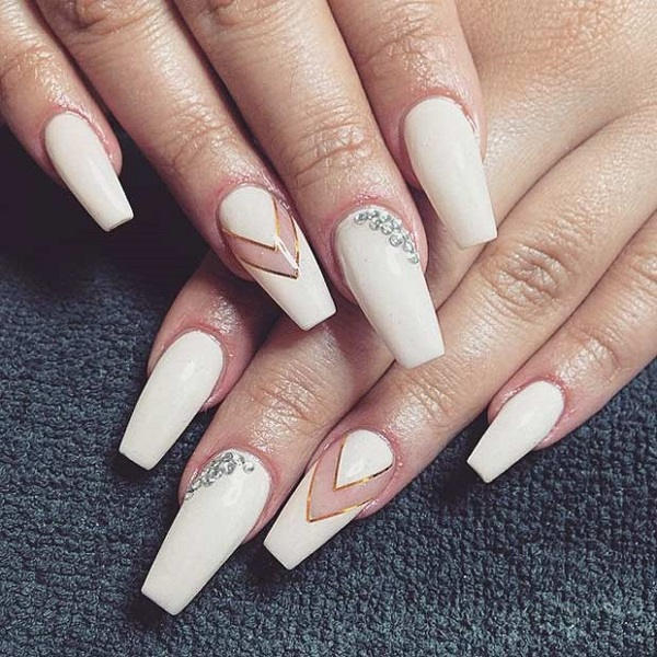 nails ideas coffin photo - 2