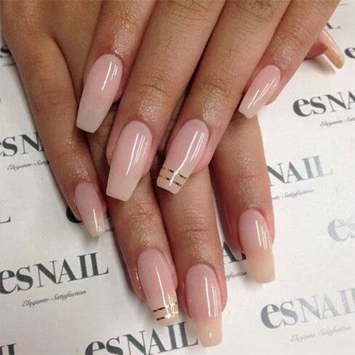 Natural coffin nails - Expression Nails