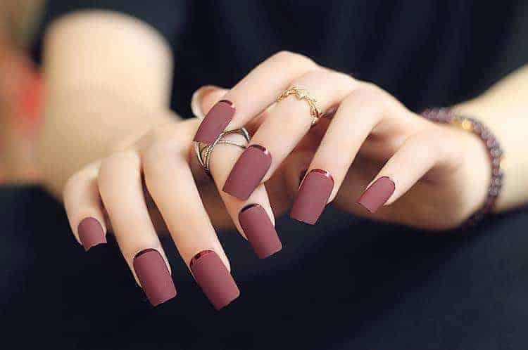 natural color acrylic nails photo - 2